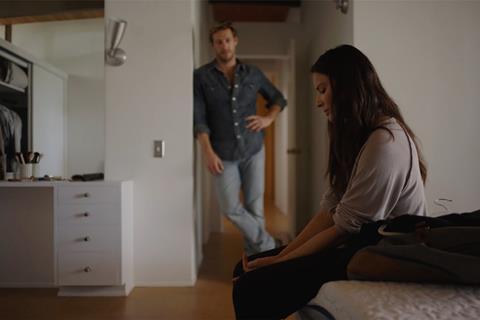 Luke Bracey, Olivia Munn in 'Violet'