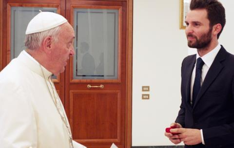 Pope Francis, AMBI co-founder Andrea Iervolino