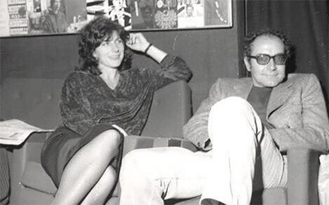 Pamela Engel and Jean-Luc Godard