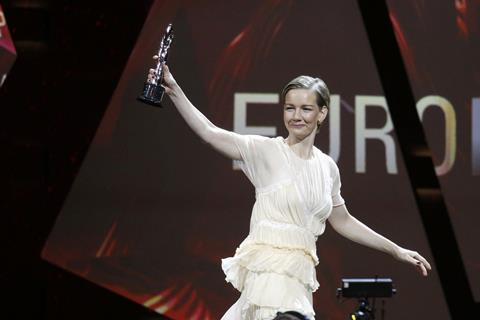Sandra hüller, winner european actress 2016 in toni erdmann picture efa api jessica kassner efa actress