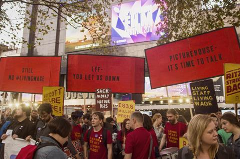 Picturehouse protests lff 2 17 3 billboards credit marc cowan bectu adapted