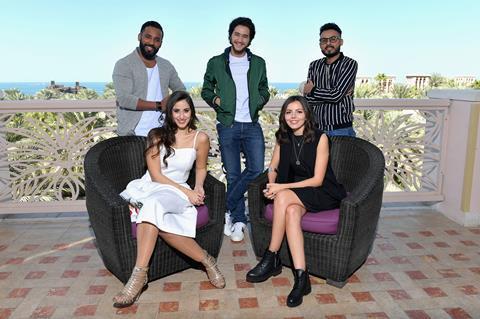 Arab stars group shot
