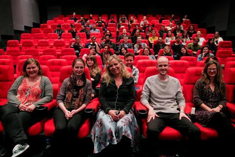 Lone Sherfig with NFTS students