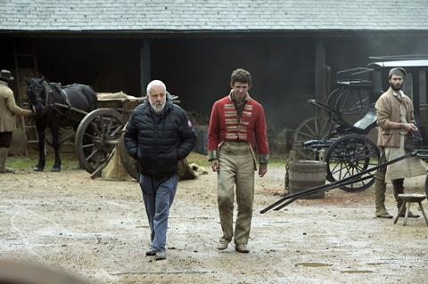 PETERLOO featuring Director Mike Leigh and David Moorst behind the scenes_Credit Simon Mein-Amazon Studios