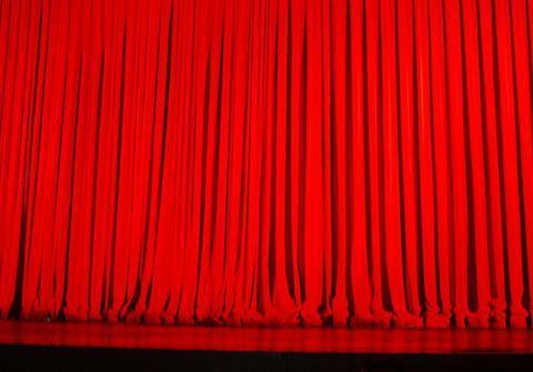 Oscars red curtain
