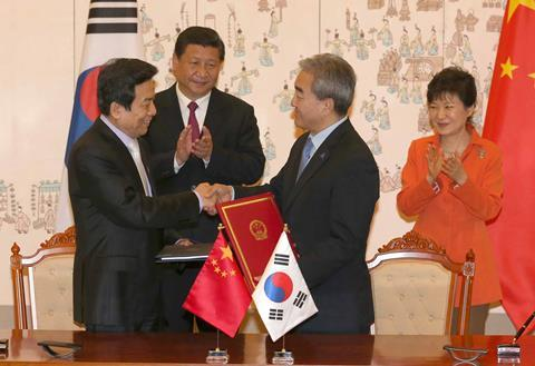 China, Korea leaders