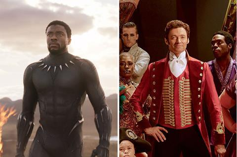 Black panther stays top as the greatest showman rises 26 at uk black panther the greatest showman c disney 20th century fox stopboris Image collections