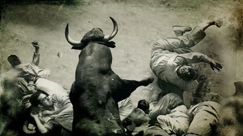 Encierro, Bull Running In Pamplona