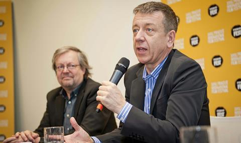 Screenwriter Peter Morgan speaks at the festival