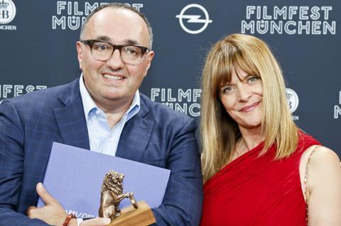 Loveless producer Alexander Rodnyansky with jury member Nastassja Kinski