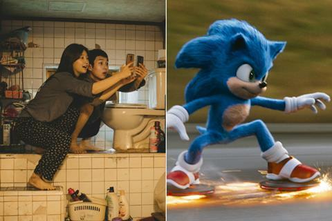 Parasite Scores 133 Uk Box Office Increase As Sonic The Hedgehog Opens Top News Screen
