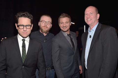 JJ Abrams Simon Pegg Jeremy Renner