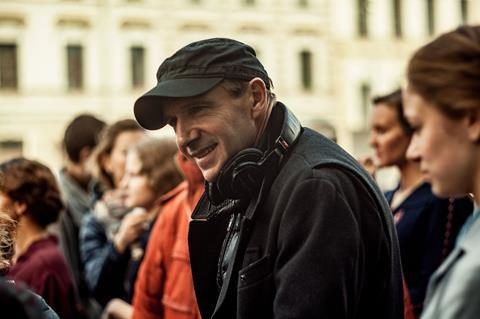 Director producer ralph fiennes on the set of the white crow photo credit kristina lukash