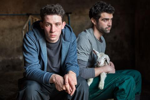 Josh O Connor and Alec Secareanu in Gods Own Country