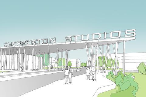 Shepperton Gate drawing pinewood Group