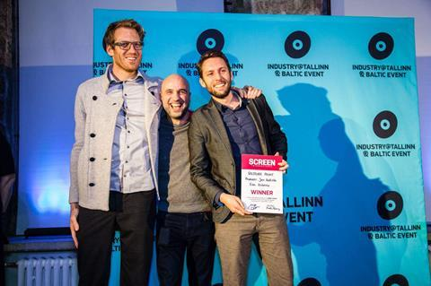 From left to right producer jan kallista, international representative arkaitz basterra, director robert hloz