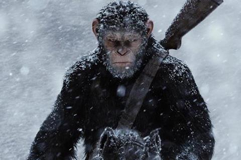 'War For The Planet Of The Apes' earns $62.3m in China debut