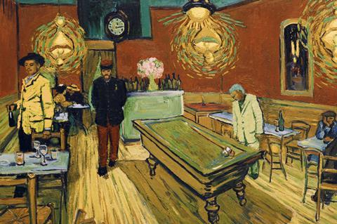 Loving vincent night cafe scene