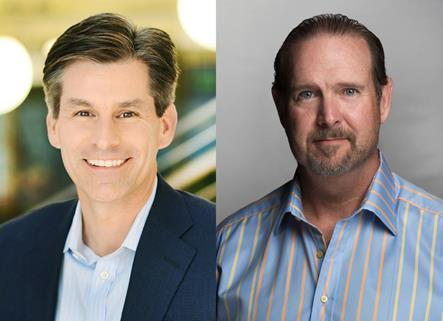 Mike Hopkins of Hulu; Jim Packer of Lionsgate