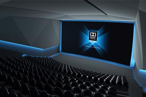 Hdr enabled dolby cinema screens