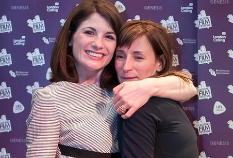 Jodie Whittaker and Rachel Tunnard at East End Film Festival