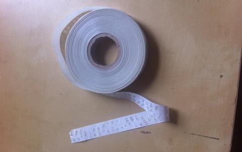 Film numbering tape