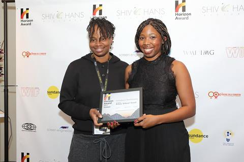 Dee rees (director) and brittany 'b monet' fennell (award winner) (photo by dan campbell horizon award