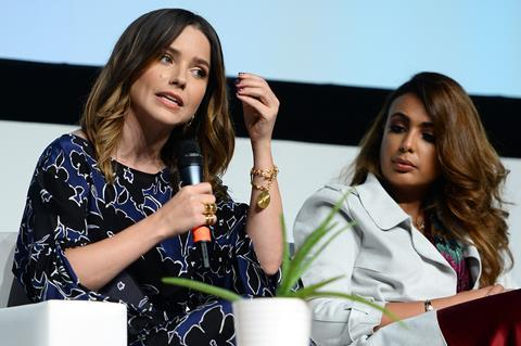 Ajyal youth film festival actress and activist sophia bush and dana mado eamonn m. mc cormack getty images