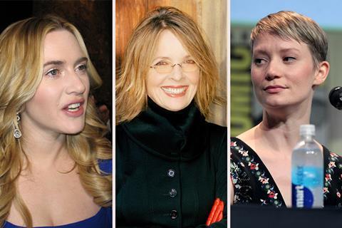 Kate Winslet, Diane Keaton, Mia Wasikowska Wiki Commons Gage Skidmore Flickr