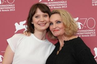 Mia Wasikowska and Robyn Davidson in Venice